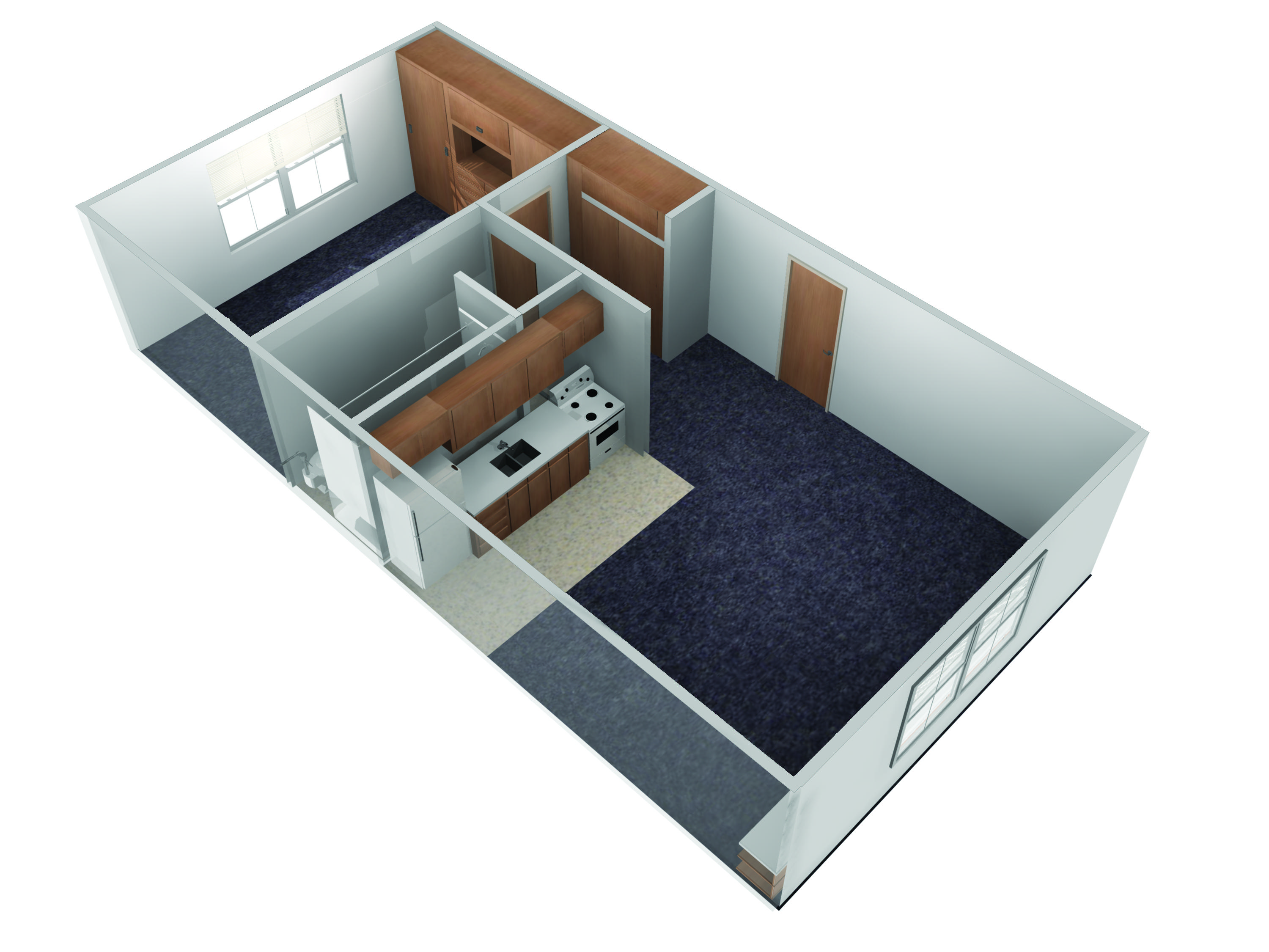 E.S. King Village 1 Bedroom Floorplan