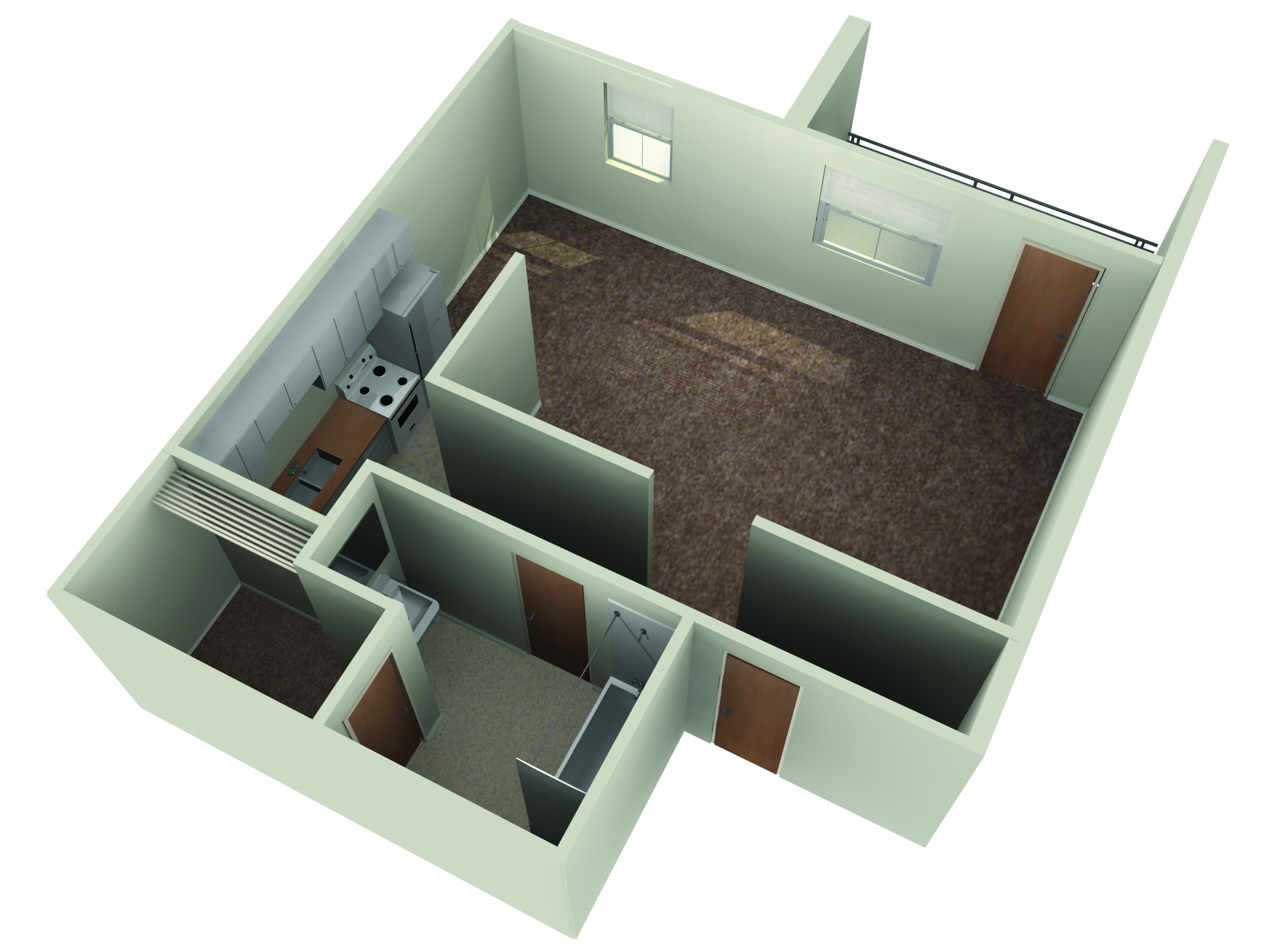 Floor plans for One bedroom apartments near ncsu