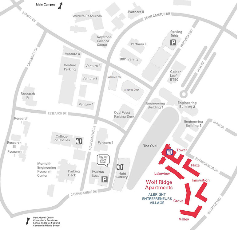 Centennial Campus Map And Directions University Housing