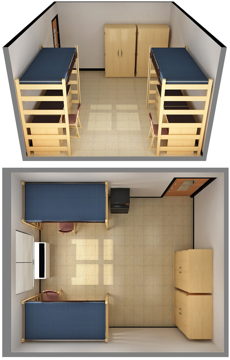 Rooms C and H