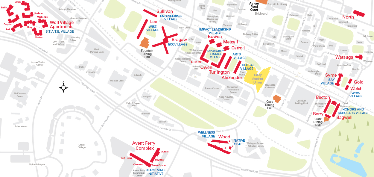 Nc State Campus Map Residence Hall Options | University Housing